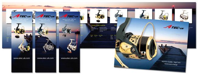 Creative Marketing and Print Project for Atec UK High Tech Fishing Equipment