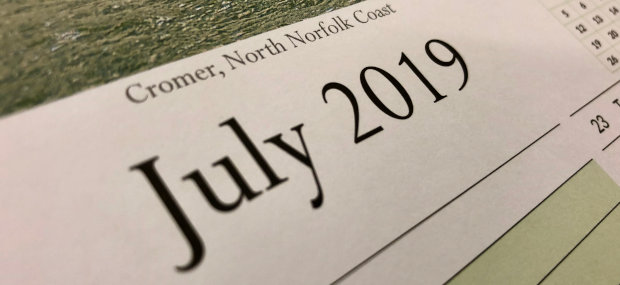 Printed Products | Calendars > July 2019 featuring Cromer on the Norfolk Coast