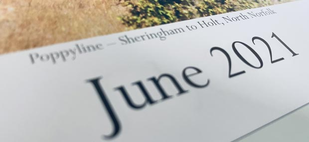 Printed Products   June 2021 calendar featuring the Poppyline Railway North Norfolk
