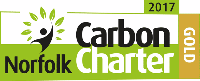 Barnwell Print awarded Norfolk Carbon Charter Gold Level 2017